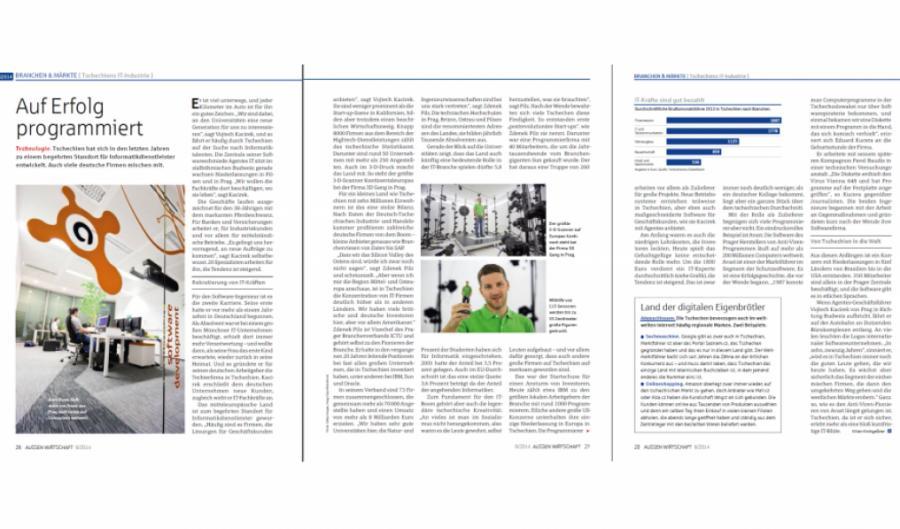 Vojtěch Kačírek v business časopise Aussenwirtschaft