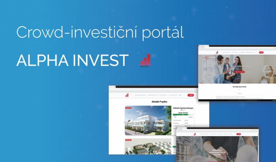 Crowd-investiční portál Aplha Invest už se rýsuje